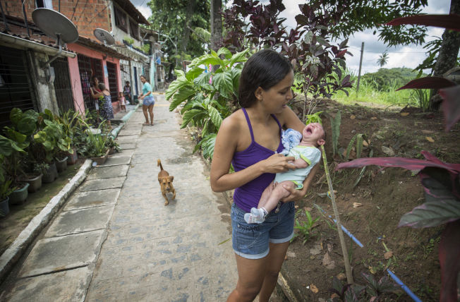 <p>RAMMER FATTIGE: Daniele bor i slummen i Apipucos i Recife. Myggen som bærer zika-viruset liker seg i fuktige omgivelser, og brer seg angivelig mest i fattige strøk.</p>