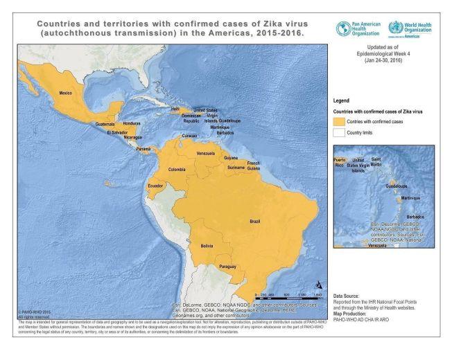 <p>SPRER SEG: Zika-viruset er nå påvist i de fleste land i Sør- og Mellom-Amerika.</p>