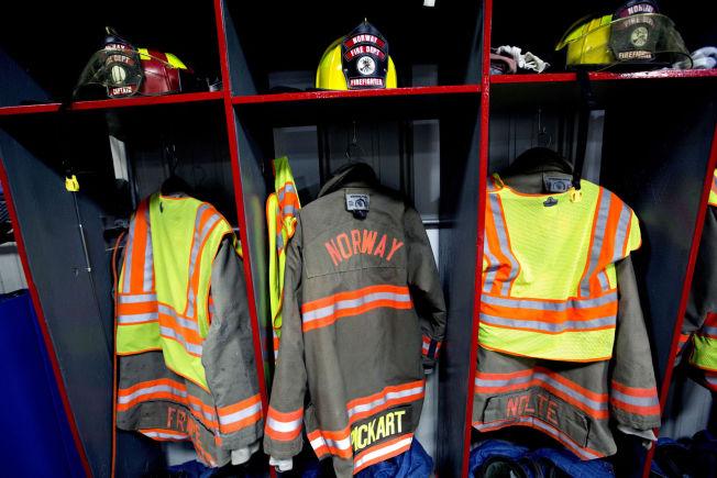 <p>«NORSK» BRANNKORPS: Norway Fire & Rescue Team består av 19 frivillige brannmenn.</p>