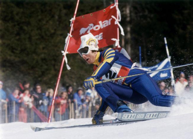 <p>SLIK VI HUSKER: Stenmark i sitt ess. Her kjører han storslalåm i verdenscupen i Åre i 1977.<br/></p>
