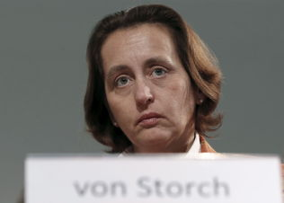 <p>HARDLINER: Nestleder Beatrix von Storch i Alternativ for Tyskland.</p>
