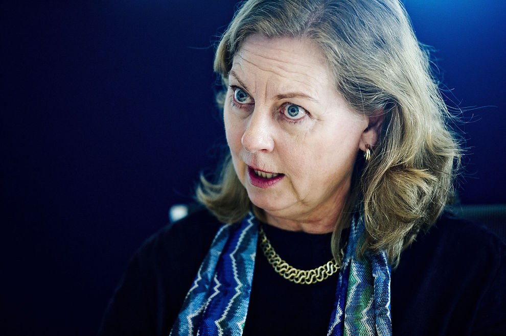 <p>BRYTER TAUSHETEN: Administrerende direktør for Telenor Norge, Berit Svendsen.</p>