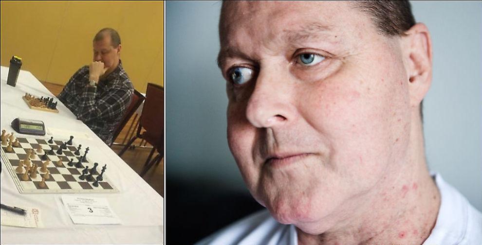 KONTROVERSIELL: Stein Tholo Bjørnsen er praktisk talt blind på begge øyne etter ulykker som barn. De to siste årene har han brukt svært mye tid på sjakk. Men han må tåle anklager om juks. Det er aldri funnet noe galt eller ulovlig tilknyttet utstyret han har brukt under turneringene sine.