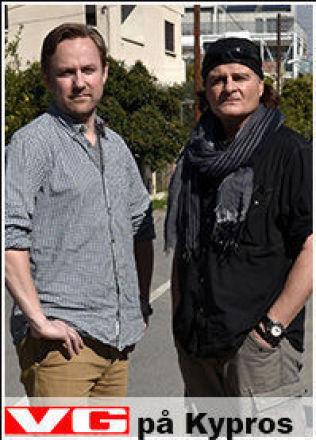 <p>PÅ KYPROS: Rune Thomas Ege og Harald Henden. Foto: HARALD HENDEN/VG</p>