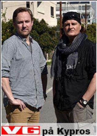 <p>PÅ KYPROS: Rune Thomas Ege og Harald Henden.</p>