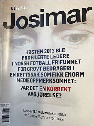 GÅR GUNNARSSON-SAKEN I SØMMENE: Her er forsiden på siste nummer av Josimar.