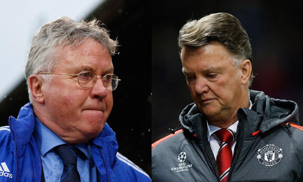 <p>NY DUELL: Guus Hiddink og Louis van Gaal har møtt hverandre syv ganger som managere for hver sin klubb.</p>