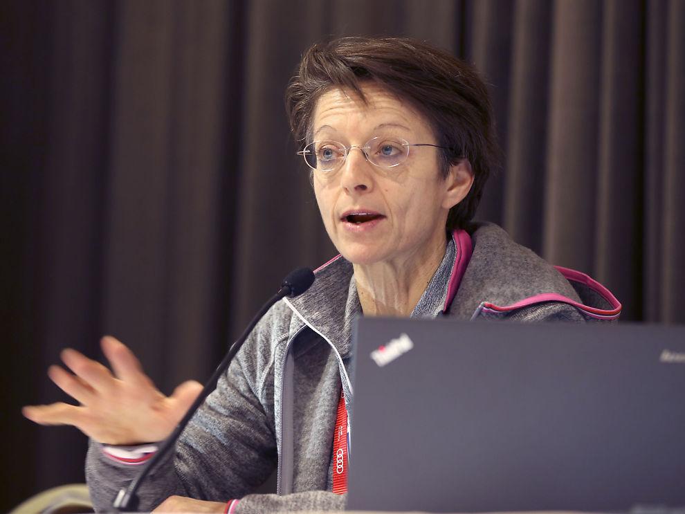 ÅPNER FOR DEBATT: Generalsekretær i Det internasjonale skiforbundet, Sarah Lewis, er åpen for debatt om ungdoms-OL.