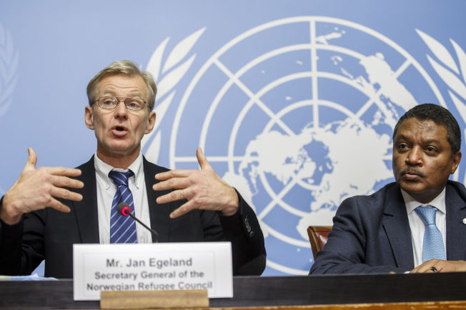 <p>VAR MEDI FORHANDLINGER: Jan Egeland deltok i Genève-samtalene i kraft av sin stilling i Flyktninghjelpen.</p>