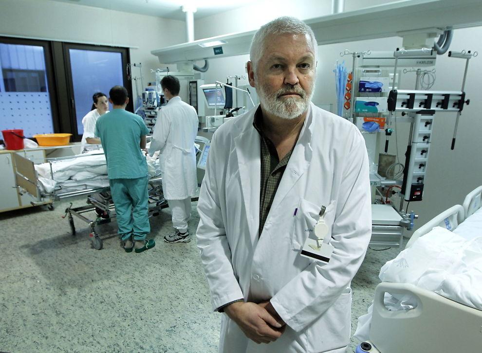 <p>BEKYMRET: Overlege Hans Flaatten ved intensivavdelingen på Haukeland Universitetsykehus.</p>