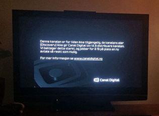 <p>STRIDEN LØST: Denne skjermen møter ikke seerne lenger.</p>