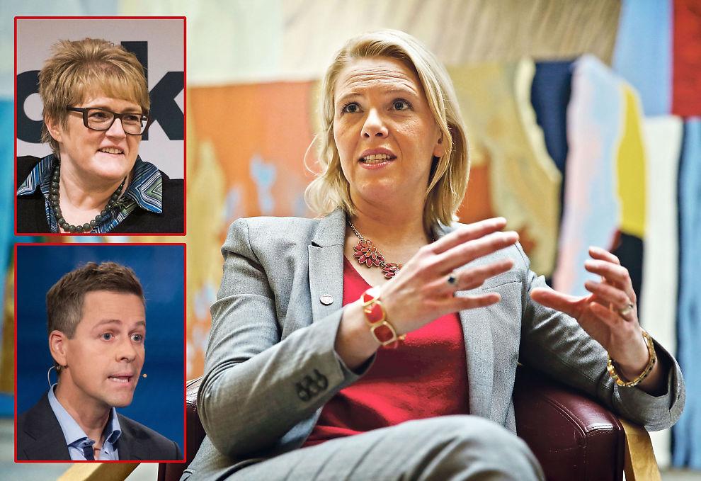 <p>BER OM RO: Innvandringsminister Sylvi Litshaug (Frp) ber om arbeidsro, mens Venstre-leder Trine Ske Grande ber henne legge vekk forslagene, og KrF-leder Knut Arild Hareide ber om nye samtaler.</p>