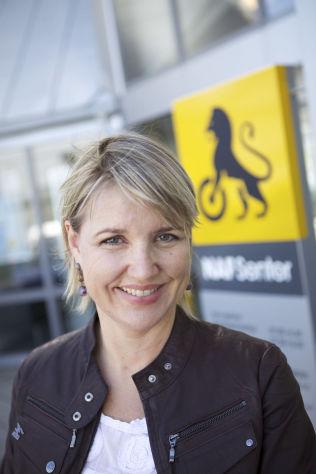 <p>SVÆRT FORNØYD: Kommunikasjonssjef i NAF, Inger Elisabeth Sagedal.</p>