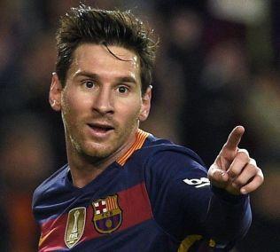 <p>ANDREPLASS: Lionel Messi er åtte mål bak Cristiano Ronaldo i Champions League-scoringsstatistikken. Her har han just scoret mot Valencia i Copa del Rey tidligere i februar.</p>
