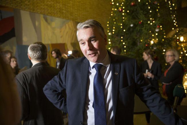 <p>KRITISK: Høyres parlamentariske leder Trond Helleland.<br/></p>