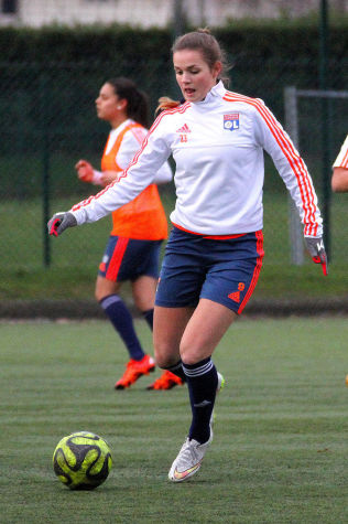 <p>SUPERTALENT: Andrea Norheim imponerte stort da hun var og trente med Lyon.<br/></p>