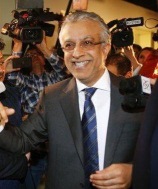 MØTTE UEFA: Her er Sjeik Salman av Bahrain i Zurich torsdag.