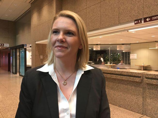 DEBUTANT: Innvandringsminister Sylvi Listhaug har vært på sitt første rådsmøte i EU torsdag ettermiddag.