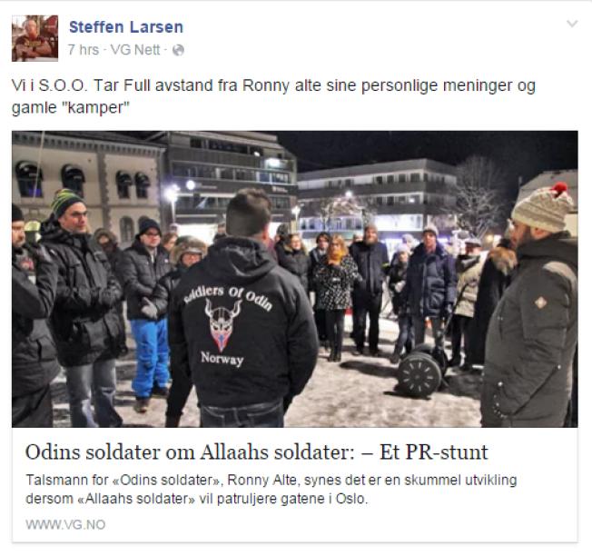 <p>REAGERER: Steffen André Larsen reagerte på Altes utspill i media tidligere denne uken.</p>