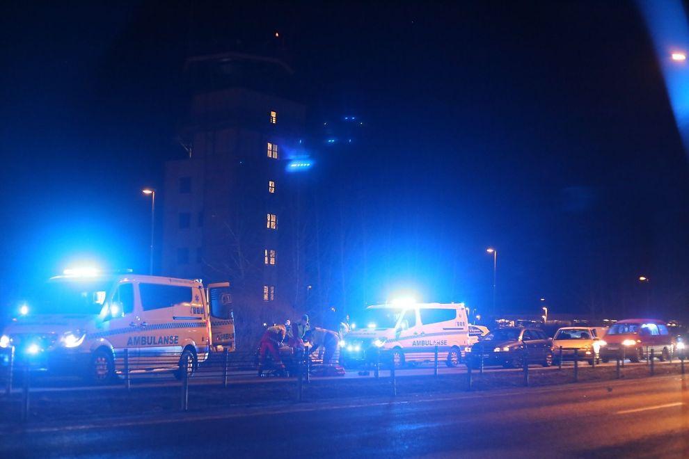 <p>FRONTKOLLISJON: Tre er skadet etter ulykken like ved Rygge flyplass.</p>