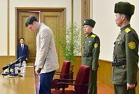 Pågrepet amerikaner vist fram på nordkoreansk TV
