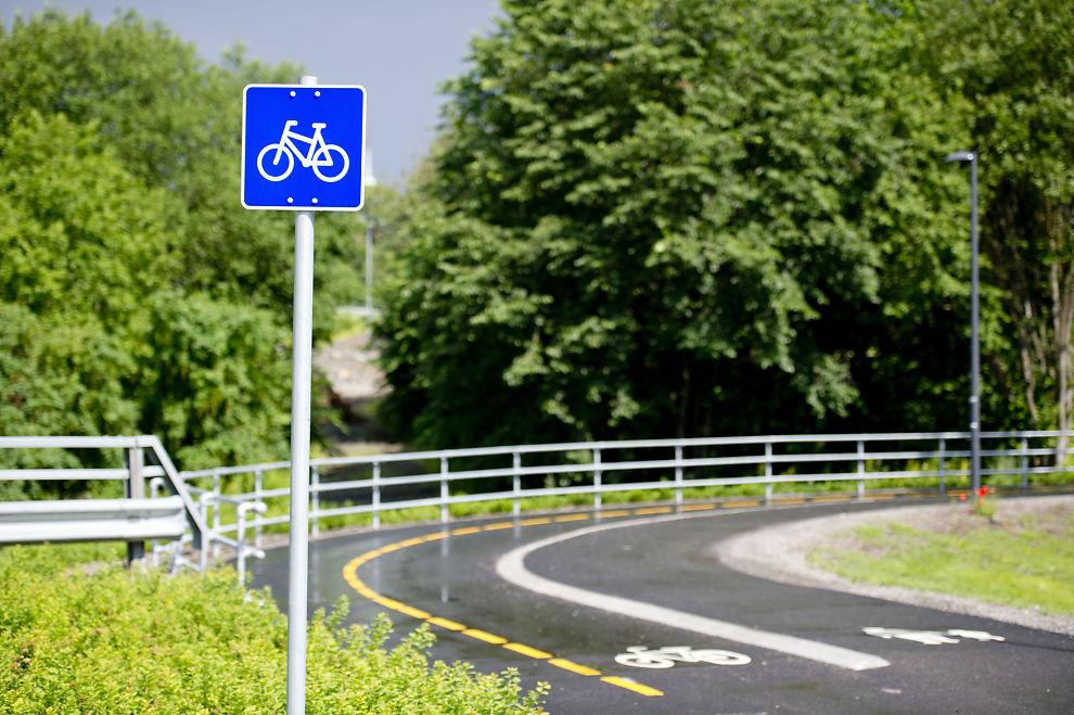 <p>NY SYKKELVEI: En sykkelvei med midtstripe på Gaustad i Oslo. De nye super-sykkelveiene skal være sammenhengende veier med høy standard som er tilrettelagt for rask og direkte sykling over lengre avstander, ifølge NTP-forslaget.</p>