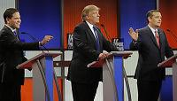 Krangel fra start: Trump barket sammen med Cruz og Rubio