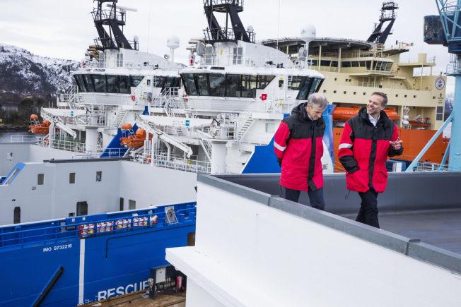 """<p>HAVROM: NHO-president Tore Ulstein og Ap-leder Jonas Gahr Støre lanserer et ord for ny satsning: De vil fylle """"havrommet"""" med ny aktivitet.</p>"""