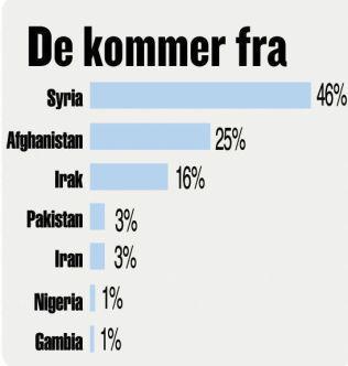<p>Flyktninger og migranter til Europa så langt i 2016.<br/></p>