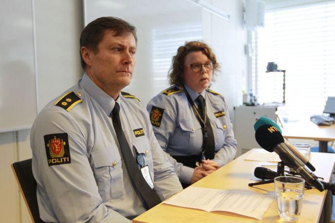 <p>SKIEN: Etterforskningsansvarlig Georg Andersen og politiadvokat Guro Siljan.<br/></p>