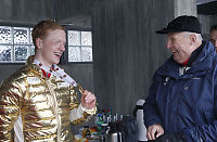 Kong Harald brøt ut i latter etter Thingnes Bøs Fourcade-spøk