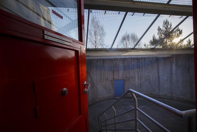 LUFTEGÅRD: I en luftegård som dette får Anders Behring Breivik tilbud om daglige lufteturer i Skien Fengsel.