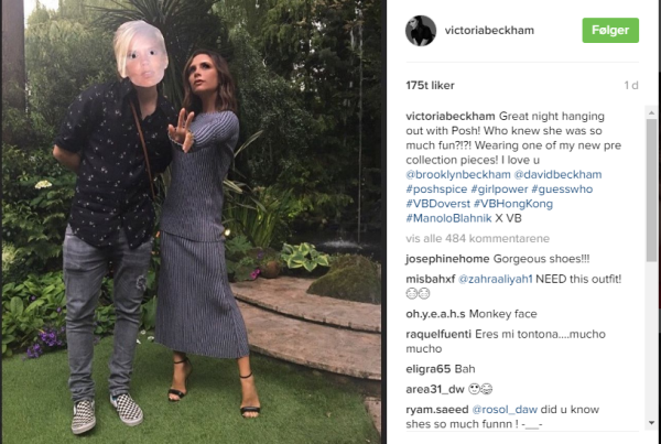 victoria beckham viser humor og ny kolleksjon p instagram norges st rste moteside. Black Bedroom Furniture Sets. Home Design Ideas