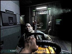 ZOMBIER: Demoner fra Helvete har forvandlet de ansatte på forskningsbasen i «Doom 3» til zombier. Ha det i bakhodet på dager hvor du er litt misfornøyd med jobben... Foto: VG Nett/id/Activision