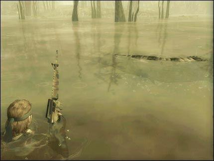 NYDELIG: Grafikken i «Metal Gear Solid 3» er sensasjonelt nydelig, og et rikt dyreliv sørger for økt innlevelse. Foto: Konami