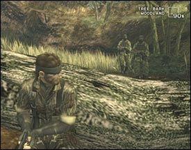SNIKING: Mye i «Metal Gear Solid 3» handler om å bruke kamuflasje og omgivelser til å ikke bli oppdaget av patruljerende vakter. Foto: Konami
