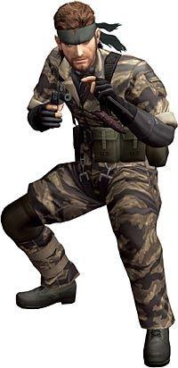 HELT: Snake, helten i «Metal Gear Solid 3: Snake Eater». Spillet foregår tidsmessig før alle de andre Metal Gear-spillene, hvor Snake faktisk er Big Boss - den store skurken. Foto: Konami