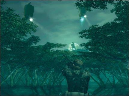 STEMNINGSFULLT: Scener som dette er det mange av i Metal Gear Solid 3! Foto: Konami