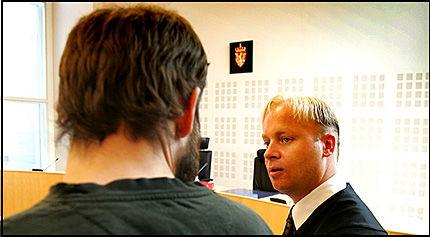 NEKTER: - Aktor vil komme med masse løgner mot meg, sa 26-åringen i retten. Foto: NICOLAI PREBENSEN