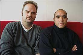 PÅ RADIO: Atle Antonsen og Johan Golden Foto: Paul Paiewonsky