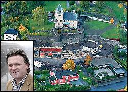 VILT OG VÅTT: Atle Kittelsen (bildet) skal ha stort basseng, boblebad, foss og vannkulp i sin vanvittige bolig. Den er under oppføring i Drammen. Foto: Nils Bjåland
