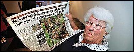 MISTET LIVET I KAMP: Broren falt i de russiske skoger for 61 år siden. Nå håper Berit Lauritzen (75) å kunne hente hans levninger. Foto: Jan Petter Lynau