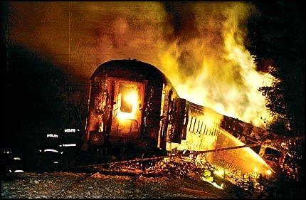 MARERITTET: 19 mennesker ble drept da to tog kolliderte ved Åsta i Østerdalen 4. januar 2000. Hadde det ikke vært for Rasmus Alme, ville ulykken trolig krevd enda flere dødsofre. Foto: Helge Mikalsen