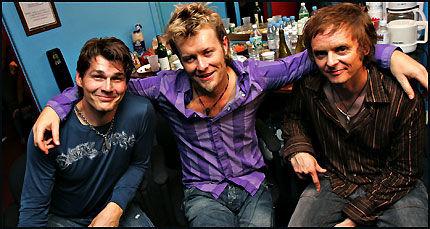 PLATEAKTUELLE: Morten Harket, Magne Furuhomen og Paul Waaktaar-Savoi i a-ha. Foto: Thomas Nilsson