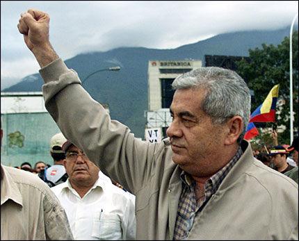 I JERN: Ortega arrangerte for tre år siden en demonstrasjon mot President Chavez, nå er han dømt til 16 års fengsel. Foto: Reuters
