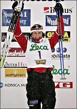 VANT IGJEN: Marit Bjørgen i NM. Foto: Scanpix