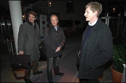 BRUDD: Pilotlederne Mogens Holgaard (t.v.), Göran Adbro og Jack Netskar kom ikke til enighet med SAS-ledelsen. Foto: MARTIN NILSEN