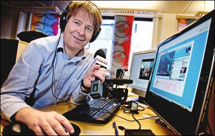 PÅ HUGGET: Ansvarlig redaktør og administrerende direktør for VG Nett, Torry Pedersen, ønsker å satse på levende bilder. Foto: Jørgen Braastad og Linn Olsen