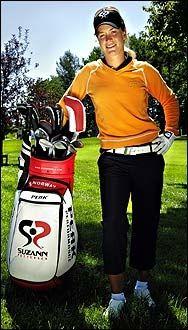Suzann Pettersen skal i sommer vise deg triksene som gjør deg til en bedre golfspiller. Foto: Helge Mikalsen, VG.