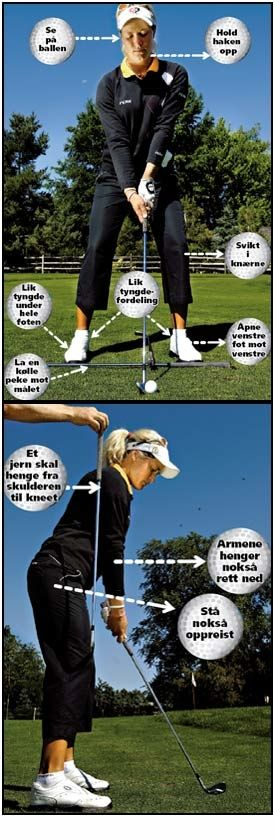 LÆR GOLF: Suzann Pettersen hjelper deg på veien mot å bli en bedre golfspiller. Foto: Helge Mikalsen, VG.